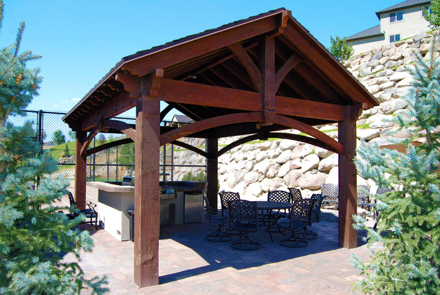 16x20 Frame Patio with Covered Patio Dovetail Timber6