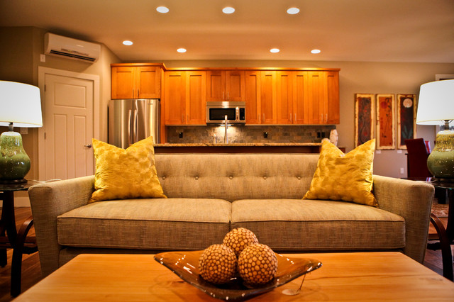 Affordable Couches Family Room Contemporary with Beige Sofa Ceiling Lighting