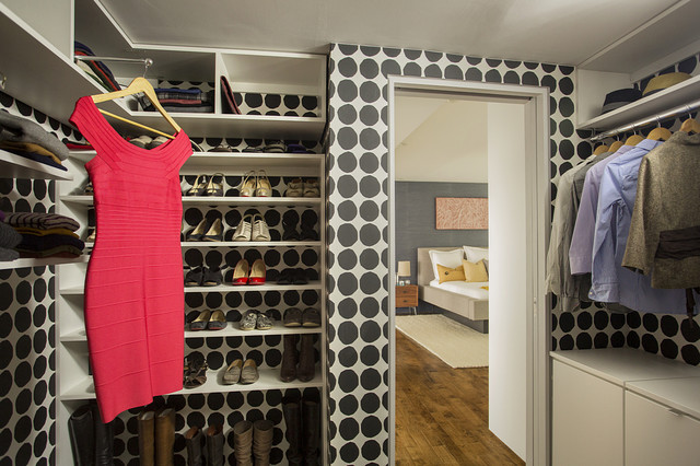Allen Roth Closet Closet Contemporary with Black and White Color1
