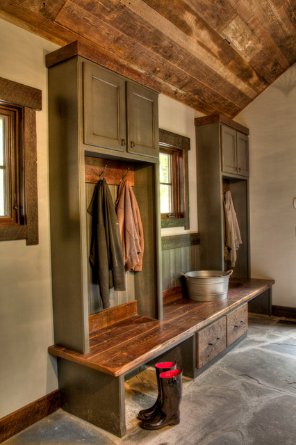 amerock hardware Entry Rustic with built in bench built