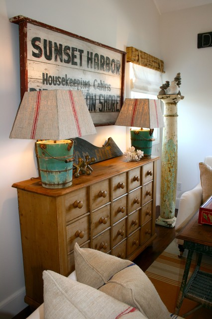 apothecary chest Family Room Beach with area rug dresser rustic