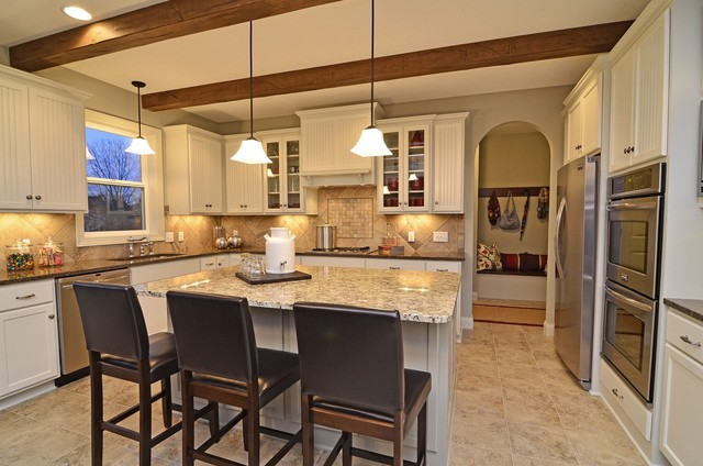 appliance discounters Kitchen Craftsman with accent tile arched doorway