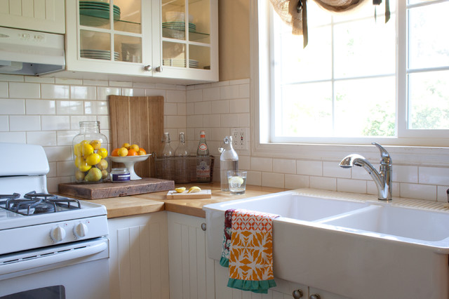 apron sink ikea Kitchen Traditional with burlap butcher block butcherblock