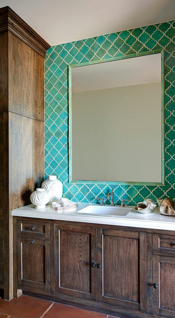 Arabesque Tile Bathroom Mediterranean with Arabesque Tile Collection Dark