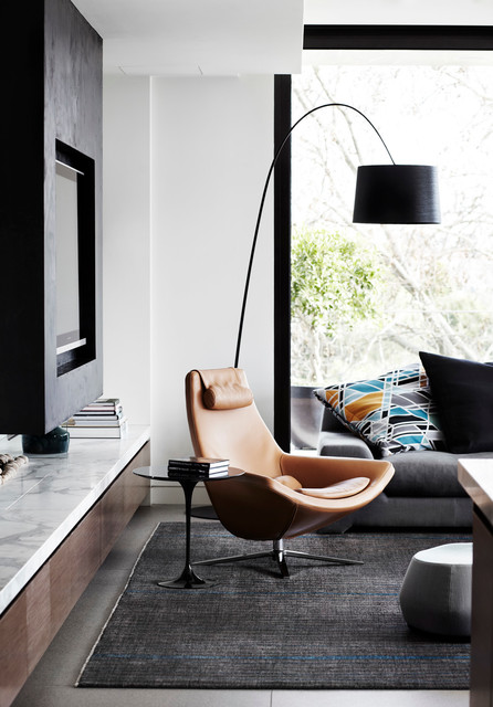 arc floor lamp Living Room Contemporary with apartment authentic classic large