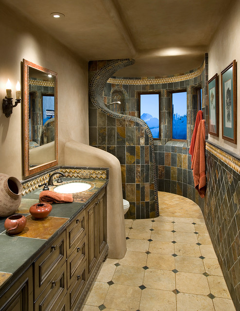 Arizona Tile Tempe Bathroom Southwestern with Arizona Artistic Tile Bathroom