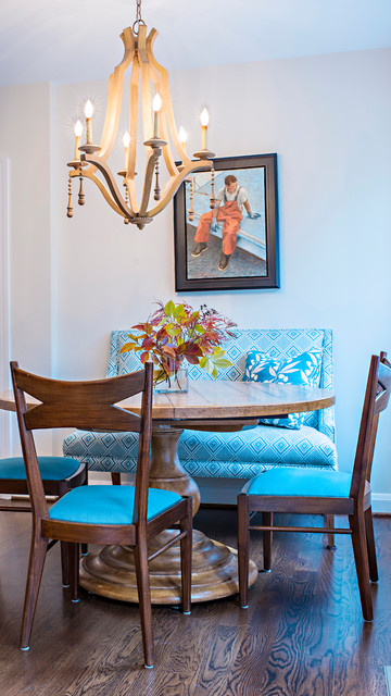 Armless Loveseat Dining Room Traditional with Blue Furniture Blue Seating