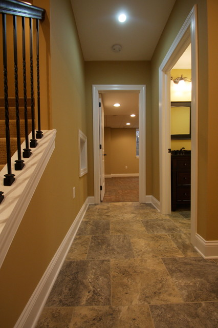 Armstrong Alterna Basement Traditional with Finished Basement