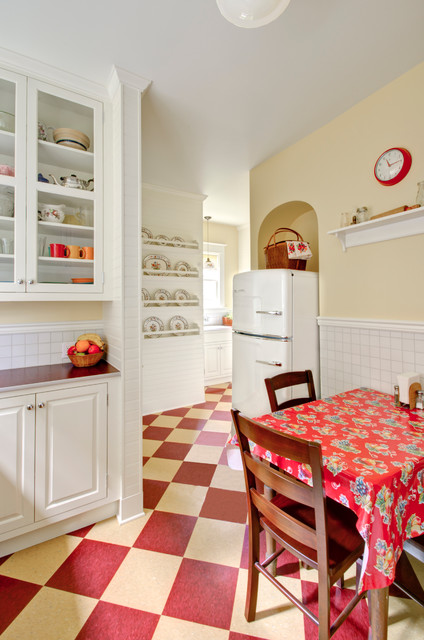 Armstrong Vct Kitchen Traditional with Archway Chair Rail Checkered1