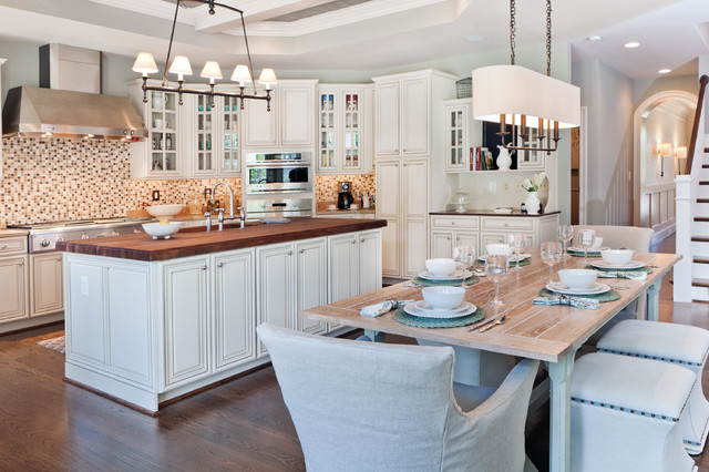 Arteriors Lighting Kitchen Transitional with Farmhouse Table Kitchen Island