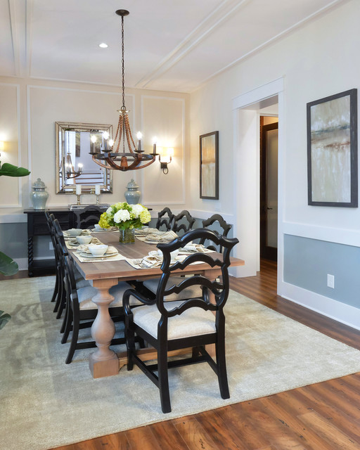 Arthur Rutenberg Homes Dining Room Traditional with Beige Area Rug Black
