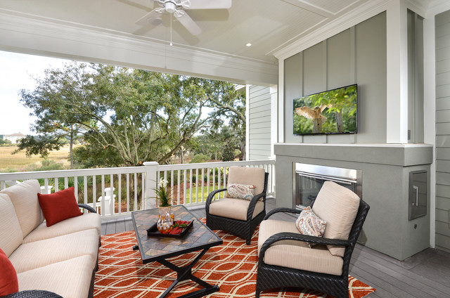 Arthur Rutenberg Homes Porch Traditional with Beige Cushions Gray Siding