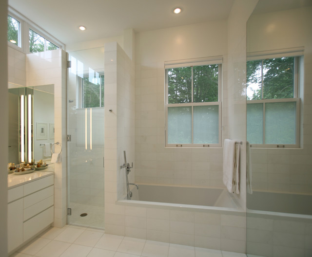 Artscape Window Film Bathroom Transitional with Clean Lines Flush Cabinets