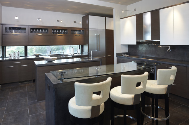 ashley furniture bar stools Kitchen Modern with concrete island flush cabinets