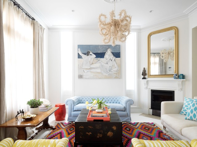 aztec rug Living Room Contemporary with area rug beautiful art
