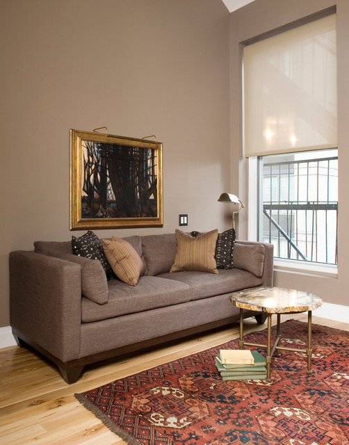 Aztec Rug Living Room Eclectic with Art Lighting Couch Fire