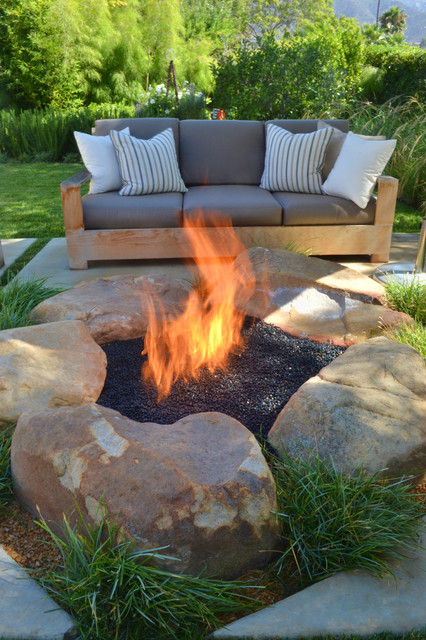 Backyard Fire Pit Ideas Patio Contemporary with Backyard Fire Pit Fire