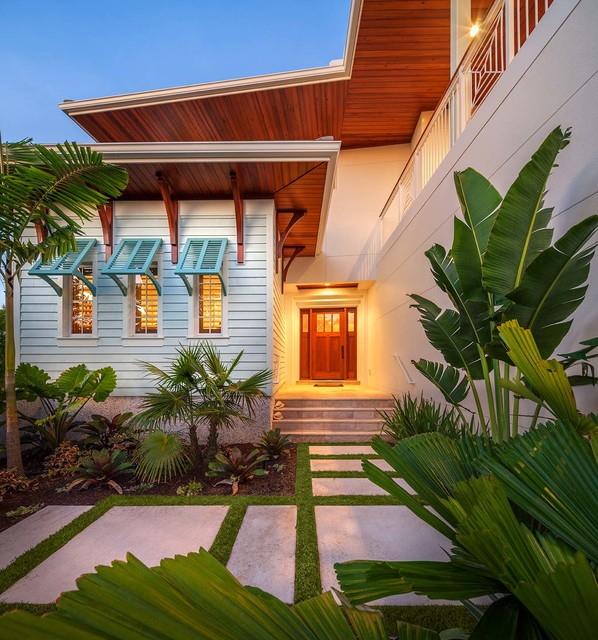 Bahama Shutters Exterior Tropical with Beige Exterior Beige Siding
