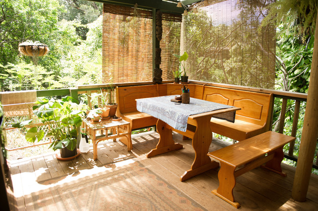 Bamboo Blinds Ikea Deck Tropical with My Houzz