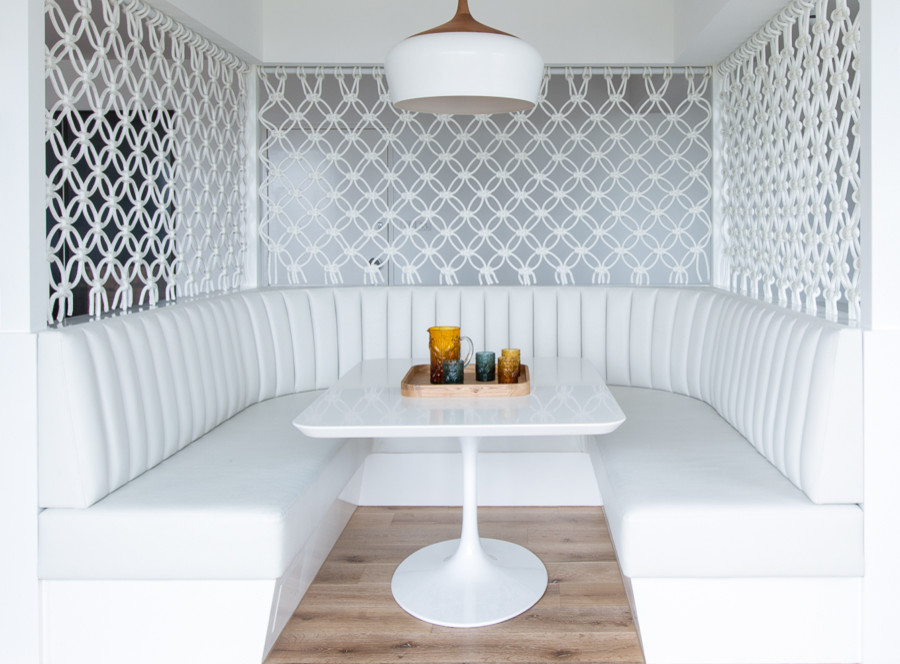 Banquette Seating Dining Room Contemporary with Banquette Seating Macrame Modern