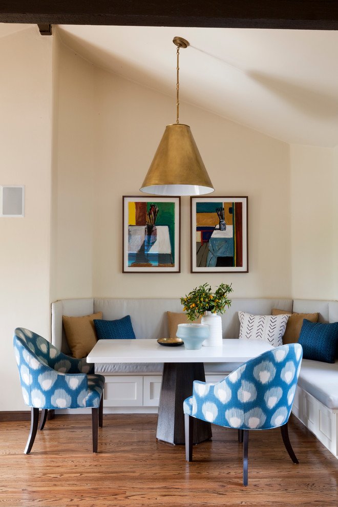 Banquette Seating Dining Room Transitional with Banquette Brass Breakfast Nook