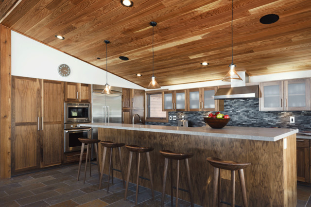 bar stools walmart Kitchen Rustic with breakfast bar cabin ceiling