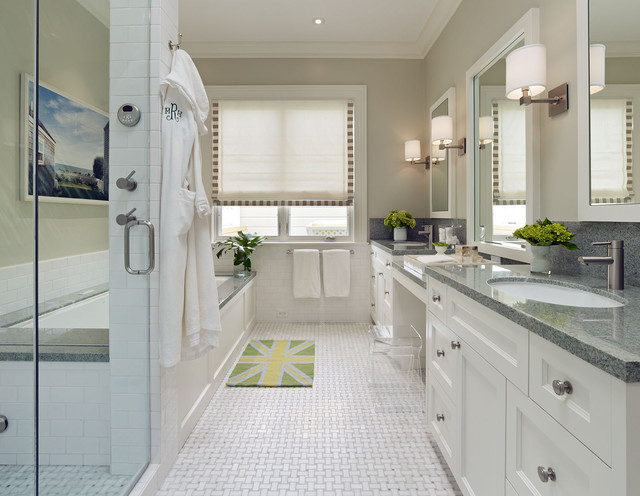Basket Weave Tile Bathroom Contemporary with Basketweave Bath Mat Bathroom