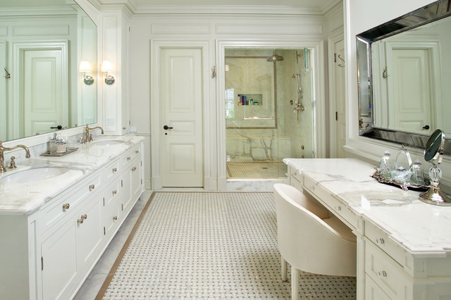 Basket Weave Tile Bathroom Traditional with Basket Weave Tile Beveled