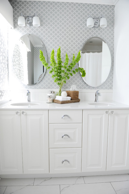 Bathroom Vanities Ikea Bathroom Traditional with Bells of Ireland Chrome1