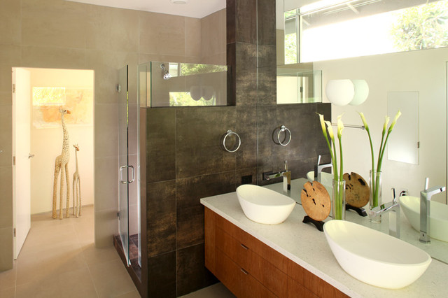 Bathroom Vessel Sinks Bathroom Modern with Bath Accessories Double Sinks1