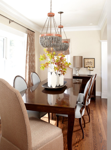 Beaded Chandelier Dining Room Traditional with Beaded Chandelier Crown Molding