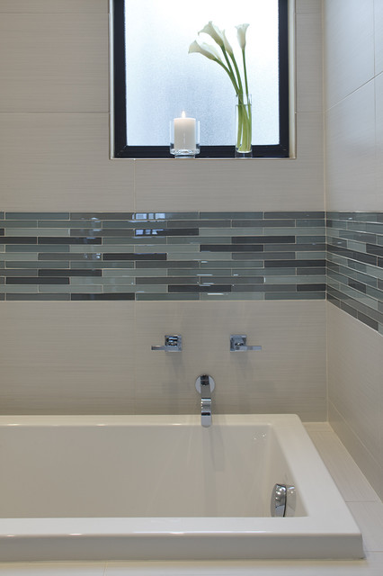 Bedrosians Tile Bathroom Contemporary with Accent Tile Ann Sacks