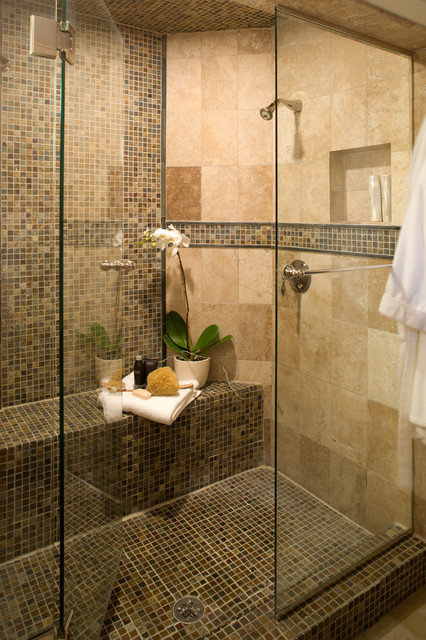 Bedrosians Tile Bathroom Contemporary with Floor Tile Glass Shower