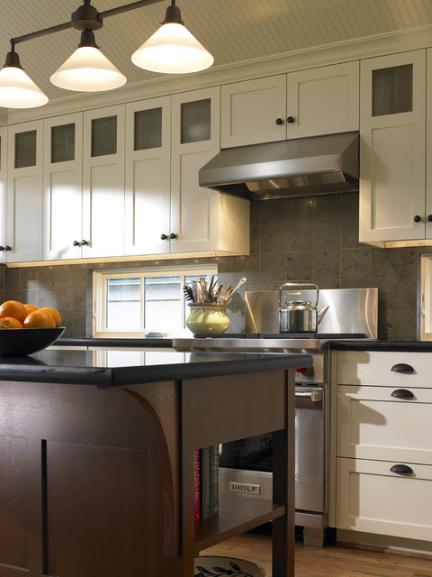 Berenson Hardware Kitchen Traditional with Beadboard Ceiling Treatment Granite