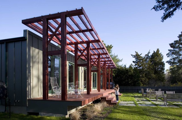Berg Furniture Porch Industrial with Awning Clear Roof Awning