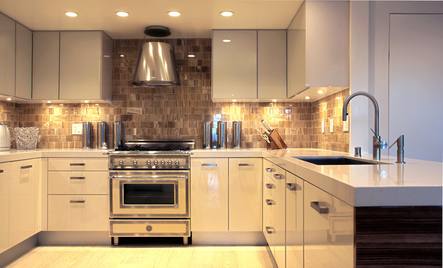 Bertazzoni Range Kitchen Contemporary with Ceiling Lighting Kitchen Hardware