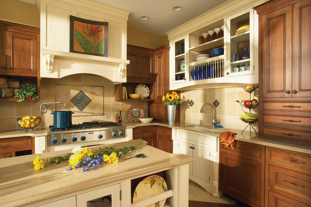 Bertch Cabinets Kitchen Traditional with Beige Cabinet Beige Countertop