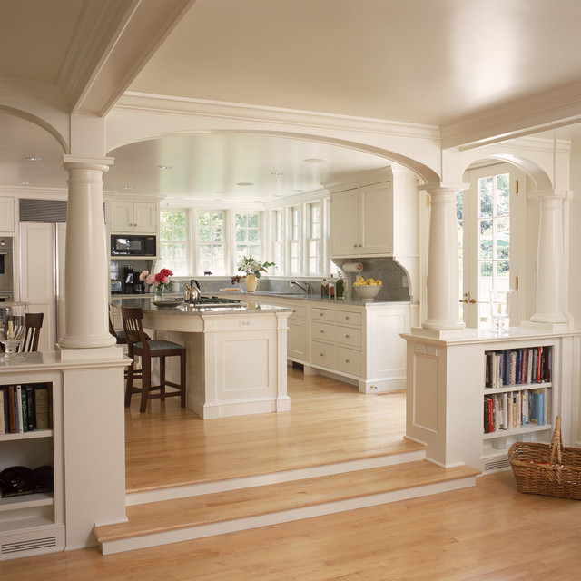 Best Mop for Hardwood Floors Kitchen Traditional with Archway Bookcase Bookshelves Built