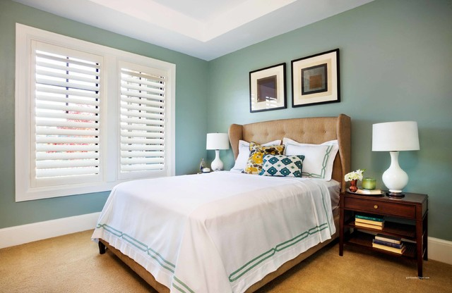 Blackout Blinds Bedroom Contemporary with American Made Home And1