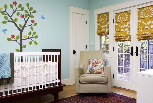 Blinds for French Doors Nursery Eclectic with Baby Colorful Crib Eco
