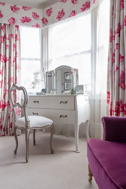 Bombe Chest Bedroom Traditional with Antique Desk Bay Window1