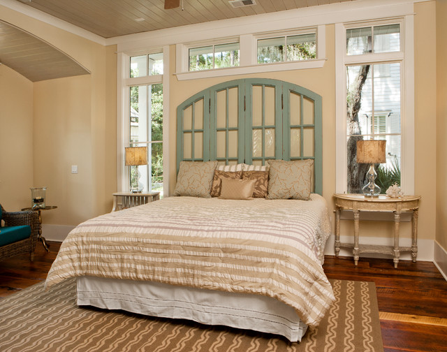 Bookcase Headboard Bedroom Beach with Accent Pillows Beachy Pillows