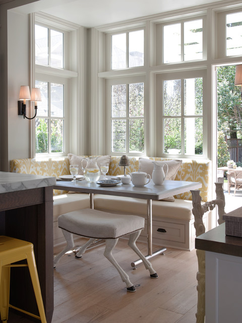 breakfast nook bench Kitchen Traditional with 2 over 2 windows