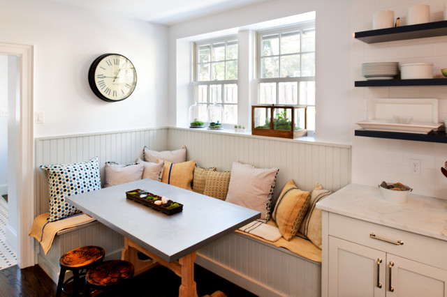 Breakfast Nook Bench Kitchen Transitional with Banquette Seating Beadboard Corner