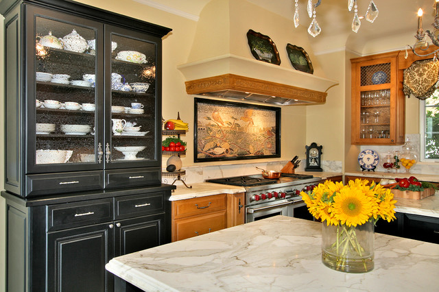Breakfront Kitchen Traditional with Dining Buffet Dining Hutch