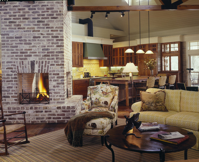 Brick Fireplace Makeover Living Room Farmhouse with Barstools Brick Fireplace Duck