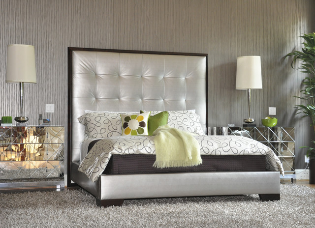 Brownstone Furniture Bedroom Contemporary with Bedside Table Decorative Pillows