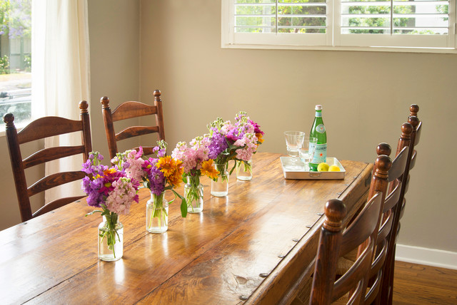 bud vases Dining Room Traditional with dining room Beth Dana