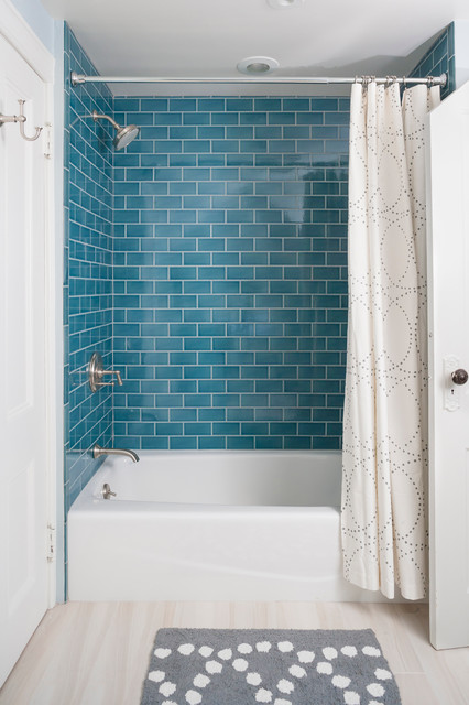 Bullnose Tile Bathroom Traditional with Bath Color Crackled Tile