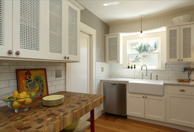 Butcher Block Table Tops Kitchen Farmhouse with Apron Sink Carrera Marble